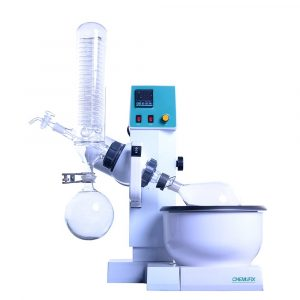 RE-2000A 0.5L~2L Rotary Evaporator With Teflon Water Bath, Auto Lifting, Temperature Digital Display