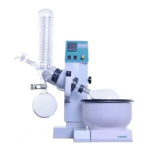 RE-2000B 0.5L~2L Rotary Evaporator With Teflon Water Bath, Auto Lifting, Temperature & RPM Digital Display
